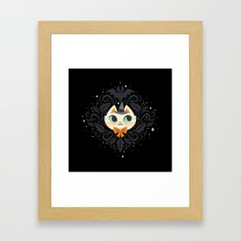Witchy Kitty Framed Art Print