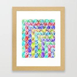 Multiple M Framed Art Print
