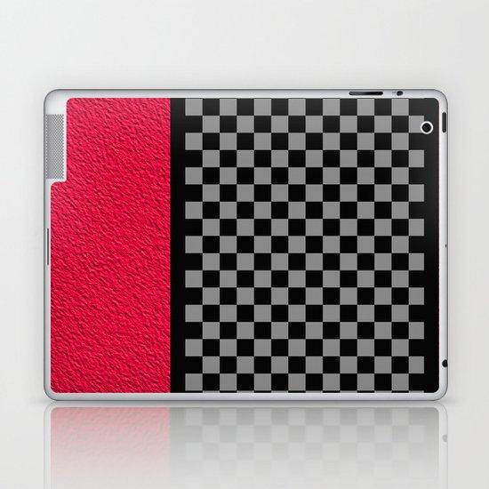 Checkered/Textured Red Laptop & iPad Skin