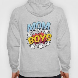 Mom of Boys Mother's Day Comic Book Style Hoody