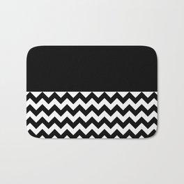 TEXTURES (BLACK-WHITE) Bath Mat
