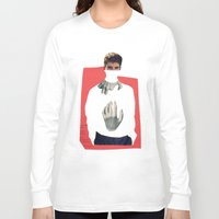 anxiety Long Sleeve T-shirts featuring Anxiety by Poisson-papier