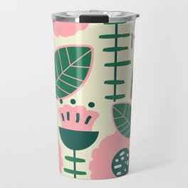 Modern flowers and leaves Travel Mug