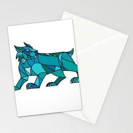 Bobcat Prowling Mosaic Stationery Cards