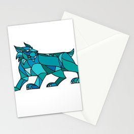 Bobcat Prowling Mosaic Stationery Cards