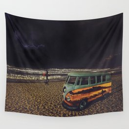 Night Summer Surf Wall Tapestry