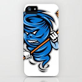 Tornado Ice Hockey Player Mascot iPhone Case