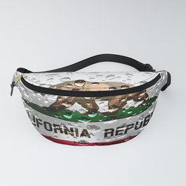 Flag of Califonria - Raindrops Fanny Pack