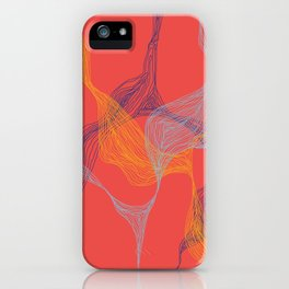Lost in Lines [RED] iPhone Case