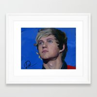 niall horan Framed Art Prints featuring Niall Horan  by Tune In Apparel