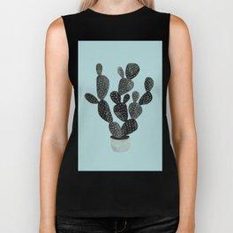 Monday blue cactus pricks Biker Tank