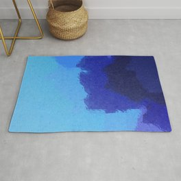 The Deep End Sea Blue Rug