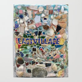 East Village NYC Mosaic Poster
