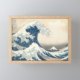 The Great Wave off Kanagawa by Katsushika Hokusai from the series Thirty-six Views of Mount Fuji Framed Mini Art Print