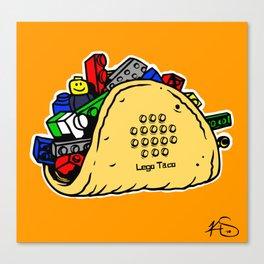 Lego Taco Canvas Print
