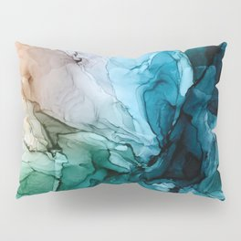 Salty Shores Abstract Painting Pillow Sham