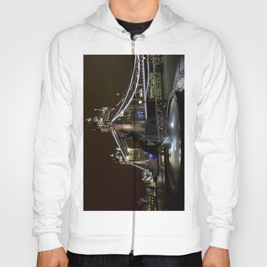 Girl and dolphin and Tower Bridge Hoody