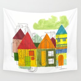 Little Block Town Wall Tapestry