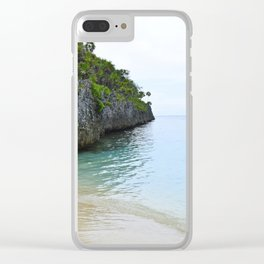Quiet Lagoon Clear iPhone Case