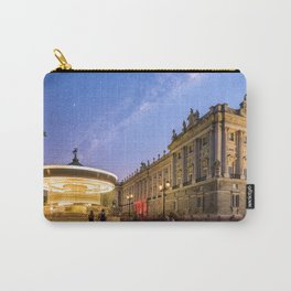 Royal Palace and carousel in Oriente Square, Madrid Carry-All Pouch