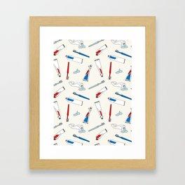 Toothpaste & Toothbrush Framed Art Print