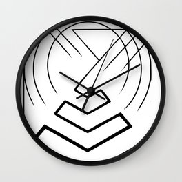 Pyramid lines in black Wall Clock