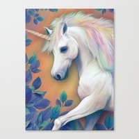 unicorn Canvas Prints featuring Unicorn by ShannonPosedenti