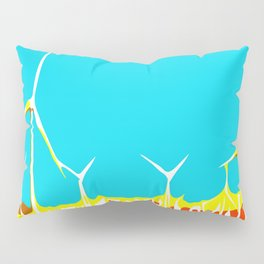 wind turbine in the desert with blue sky Pillow Sham