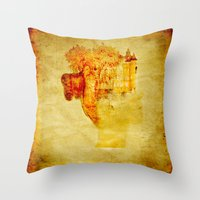 once upon a  time Throw Pillows featuring Once upon a time ... by Ganech joe