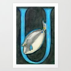 U is for Unicorn Fish Art Print