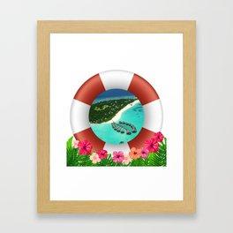 Maldives Getaway Framed Art Print