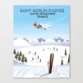 Saint-Sorlin d'Arves France. Canvas Print