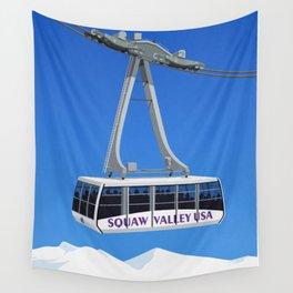 Squaw Valley Ski Resort ,LakeTahoe , California Wall Tapestry