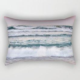 Beautiful waves. Sunset at the beach. Rectangular Pillow