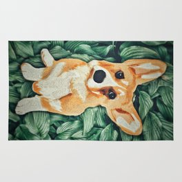 Mia the Corgi Rug