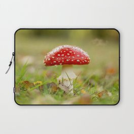 White dotted red hood Laptop Sleeve