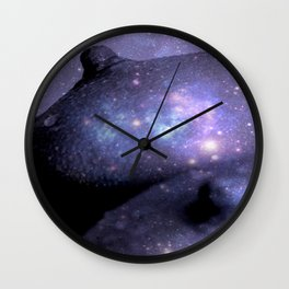 Galaxy Breasts / Galaxy Boobs Purple Wall Clock