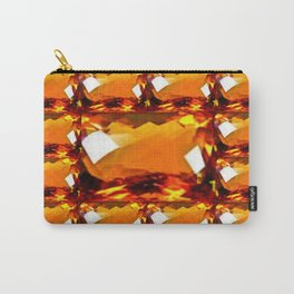 Golden Topaz Gems Pattern Abstract Carry-All Pouch