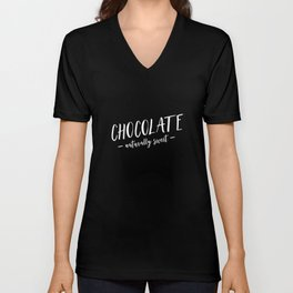 Chocolate Naturally Sweet Unisex V-Neck