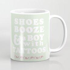 I love Shoes Booze Boy with Tattoos Mug