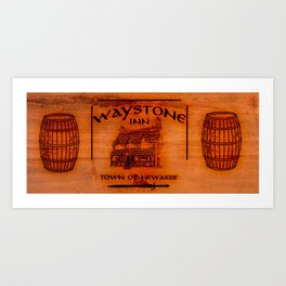 Waystone wood Art Print
