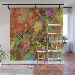 Dragonflies and Roses Hips Wall Mural