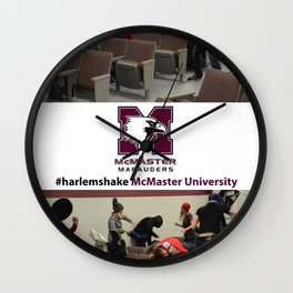 McMaster University #harlemshake  Wall Clock