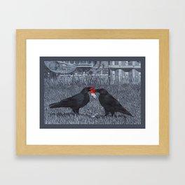 crow food Framed Art Print