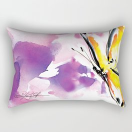 Butterfly Song No. 50 by Kathy Morton Stanion Rectangular Pillow