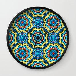 Ornate Festive Folklore Colorful Pattern Wall Clock