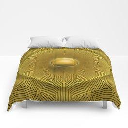Golden Sunrise Pattern Comforters