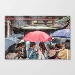 Senso-Ji Shower Canvas Print