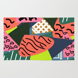 Abstract quilt Rug