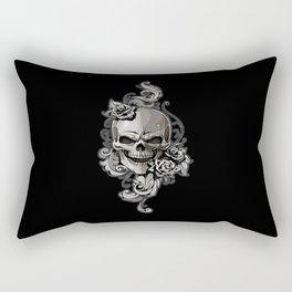 Skull and Rose Rectangular Pillow